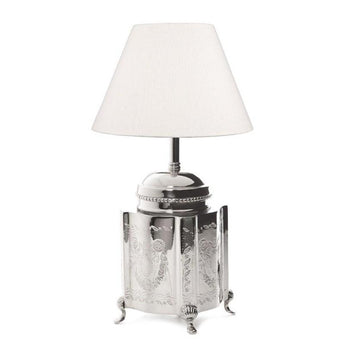 Kensington Tea Caddy Table Lamp Base Nickel - The Lighting Lounge Australia