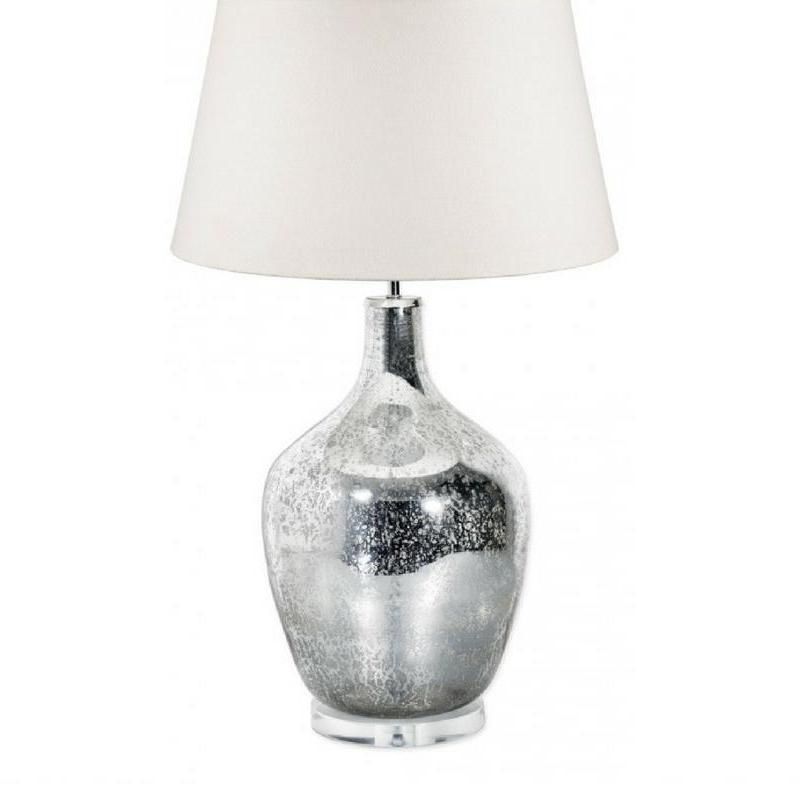 Fortuna Mercury Glass Bottle Lamp Base Large - The Lighting Lounge Australia