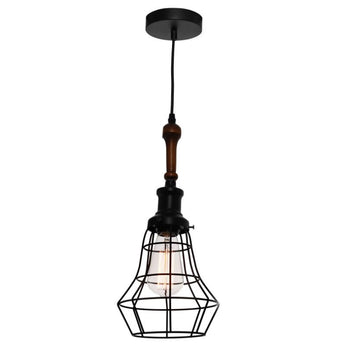Lathe Black Wire Pendant - The Lighting Lounge Australia