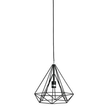 Lenox Geometric Wire Pendant Black - The Lighting Lounge Australia