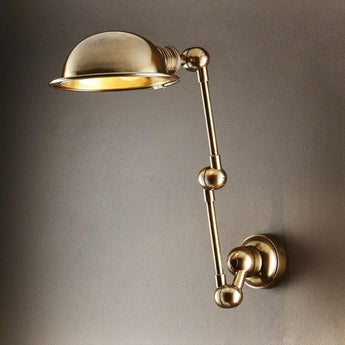 Lincoln Swing Arm Wall Sconce Antique Brass