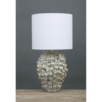 Londolozi Table Lamp White and Cream - The Lighting Lounge Australia