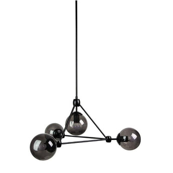 Lunar 4 Light Pendant Smoke And Matt Black - The Lighting Lounge Australia