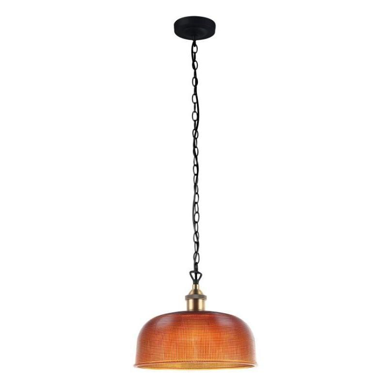 Maison Amber Halophane Glass Pendant - The Lighting Lounge Australia