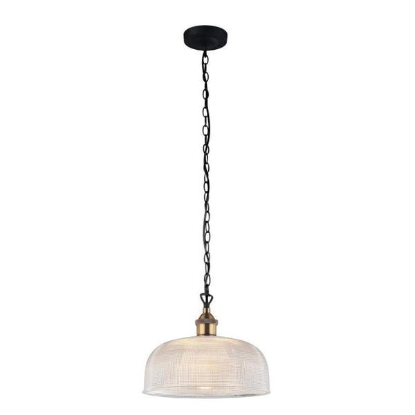 Maison Clear Halophane Glass Pendant - The Lighting Lounge Australia