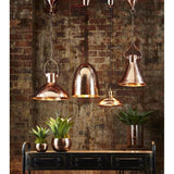 Malawi Hanging Lamp In Copper - The Lighting Lounge Australia