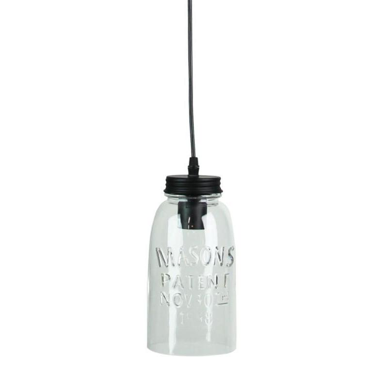 Mason Jar Pendant Clear Glass - The Lighting Lounge Australia