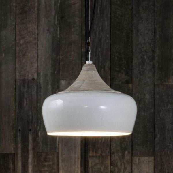 Milano Hanging Lamp in White - The Lighting Lounge Australia