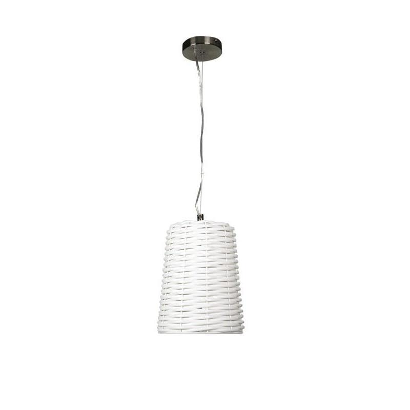 Moreton Woven PVC Pendant White - The Lighting Lounge Australia