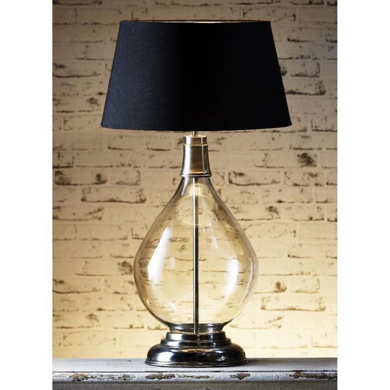 Nero Glass Table Lamp Base - The Lighting Lounge Australia