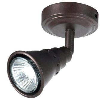 Norton Single Adjustable Spotlight Rubbed Bronze - The Lighting Lounge Australia