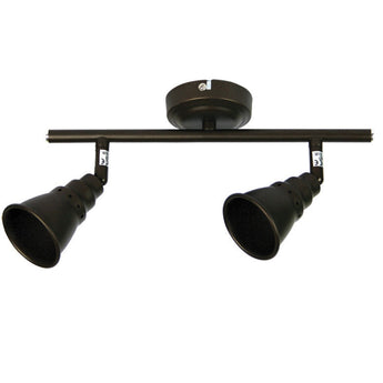 Norton 2 Light Adjustable Spotlight Bar Rubbed Bronze - The Lighting Lounge Australia