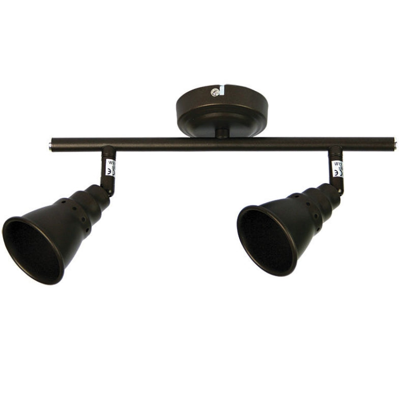 Norton 2 Light Adjustable Spotlight Bar Rubbed Bronze