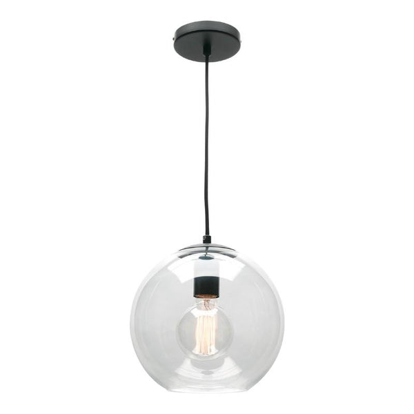 Orpheus Glass Pendant Black - The Lighting Lounge Australia
