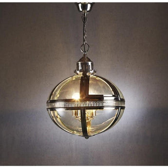 Oxford Hanging Lamp in Shiny Nickel - The Lighting Lounge Australia