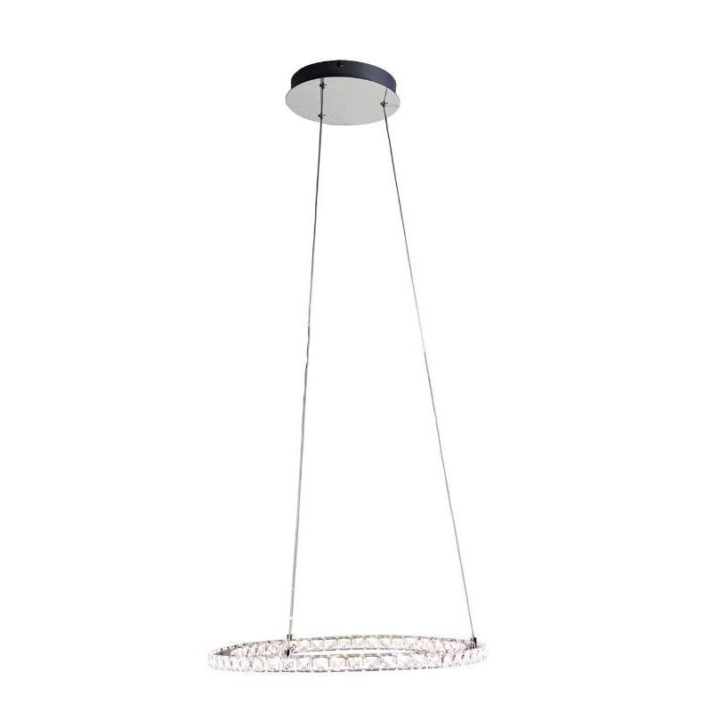 Oxy LED Crystal Ring Pendant 500 - The Lighting Lounge Australia