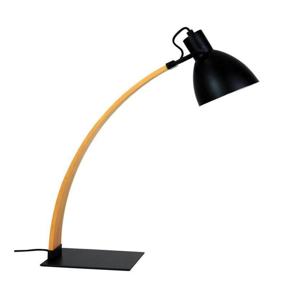 Perno Desk Lamp Oil Rubbed Bronze And Wood - The Lighting Lounge Australia