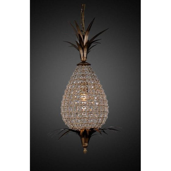 Picaso Small Glass Pendant Brass - The Lighting Lounge Australia