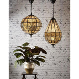 Portobello Glass Pendant Lamp In Black - The Lighting Lounge Australia