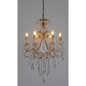 Raphael Chandelier in Antique Silver - The Lighting Lounge Australia