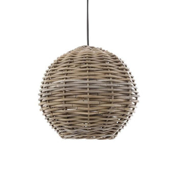 Rattan Round Hanging Pendant Medium - The Lighting Lounge Australia
