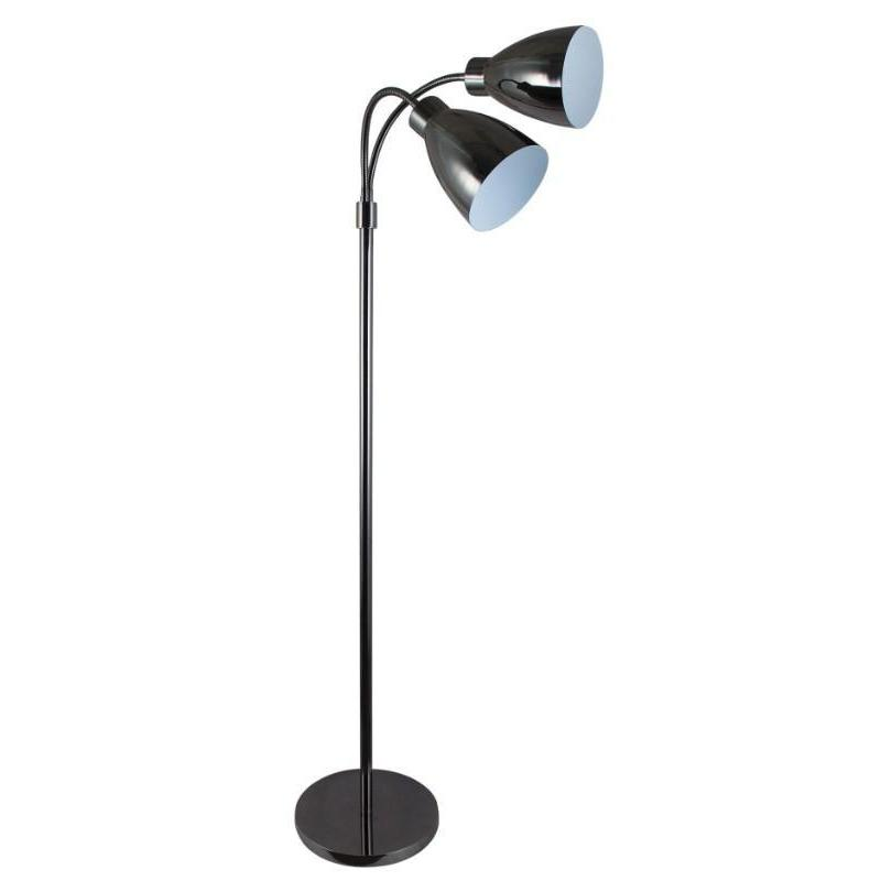 Retro Twin Floor Lamp Gunmetal - The Lighting Lounge Australia