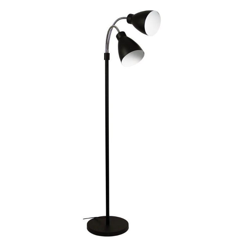 Retro Twin Floor Lamp Matt Black - The Lighting Lounge Australia
