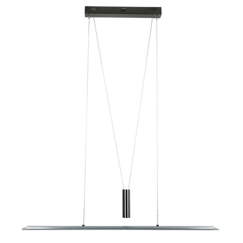 Ricco LED Rise And Fall Brushed Chrome Pendant - The Lighting Lounge Australia