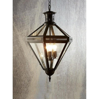 Rockefella Diamond Glass Light Black - The Lighting Lounge Australia