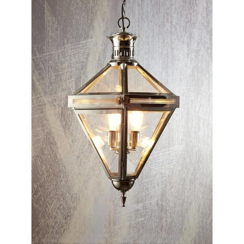 Rockefella Diamond Glass Light Nickel - The Lighting Lounge Australia