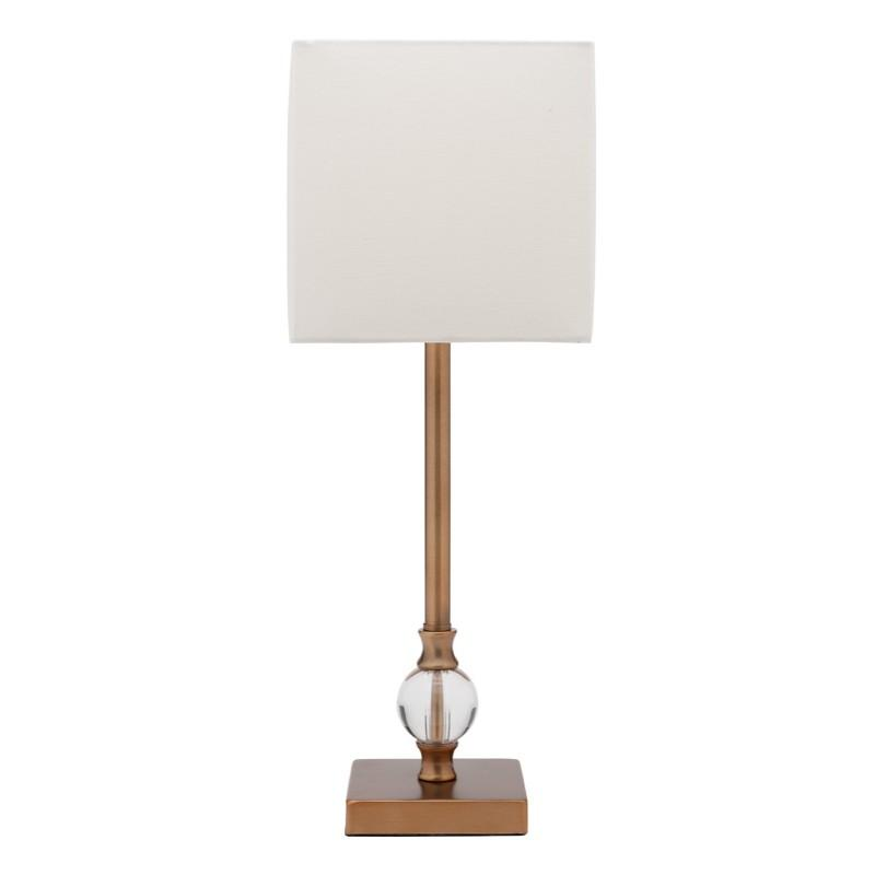 Roland Table Lamp Aged Brass