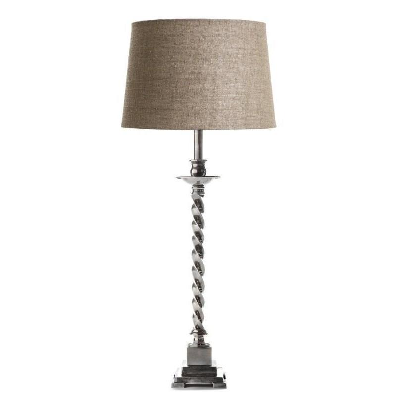 Roxbury Table Lamp Base - Antique Silver - The Lighting Lounge Australia