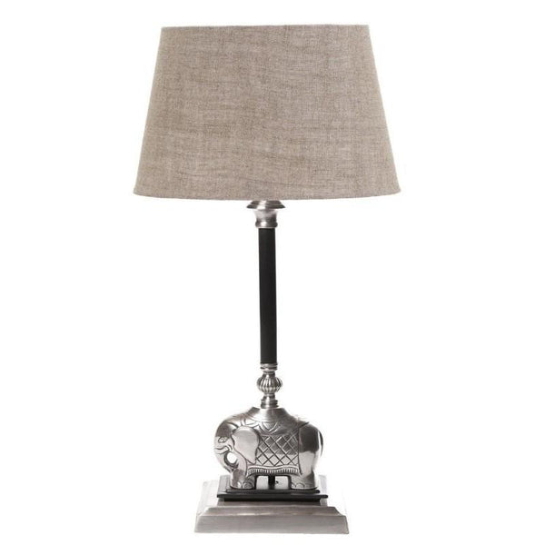 Sabu Table Lamp Base Dark Antique Silver - The Lighting Lounge Australia