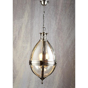 Saville Chandelier in Shiny Nickel - The Lighting Lounge Australia