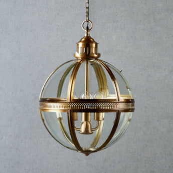 Saxon Pendant Lamp Antique Brass