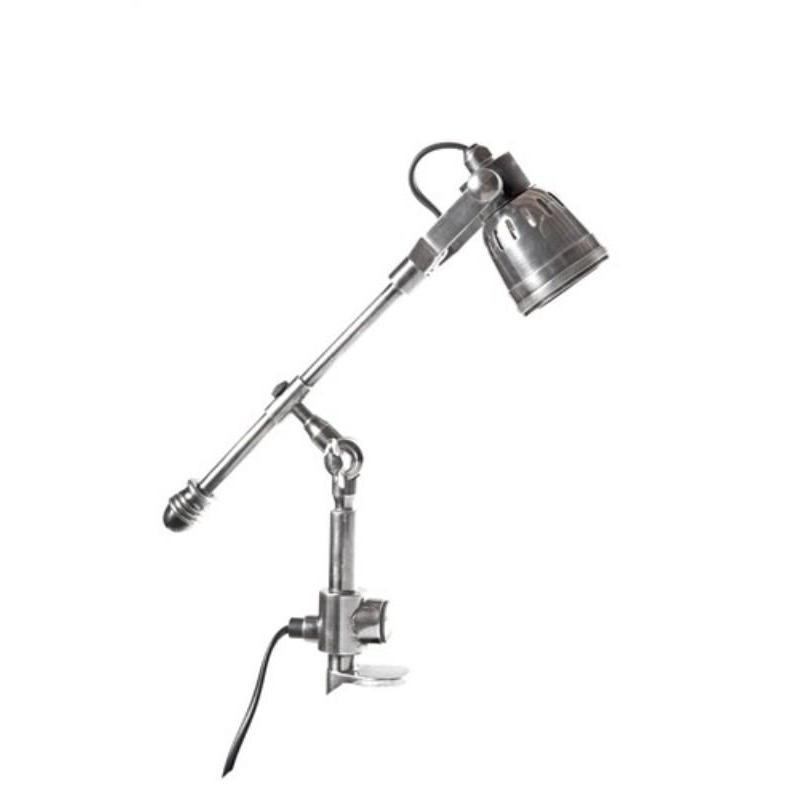 Seattle Clamp Lamp Antique Silver - The Lighting Lounge Australia