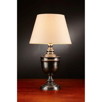 Sheffield Urn Table Lamp Base Antique Silver - The Lighting Lounge Australia