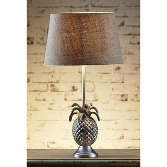 St Martin Pineapple Table Lamp Base In Silver - The Lighting Lounge Australia