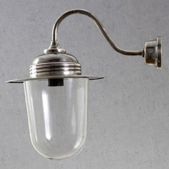 Stanmore Glass Wall Lamp Antique Silver