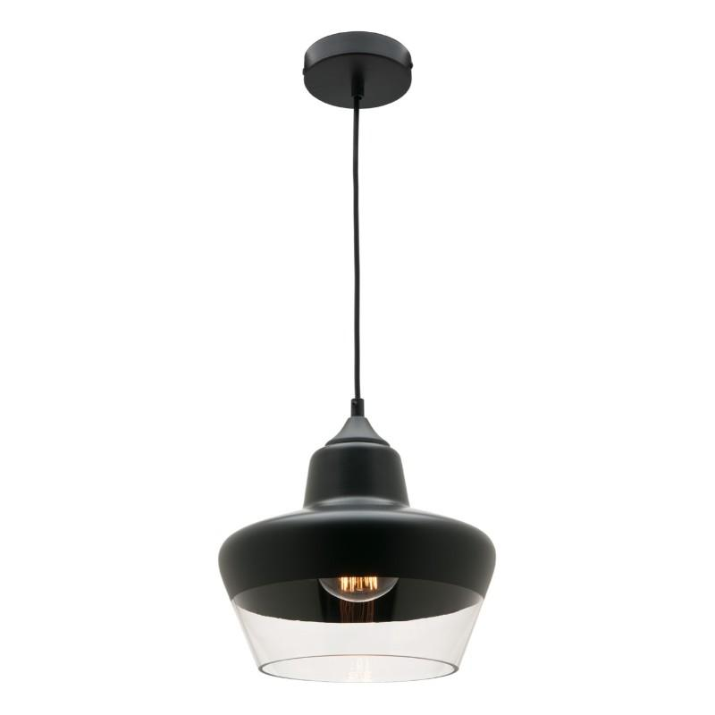 Stout Black and Glass Pendant - The Lighting Lounge Australia