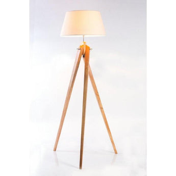 Sassa Twist Tripod Beige Floor Lamp - The Lighting Lounge Australia