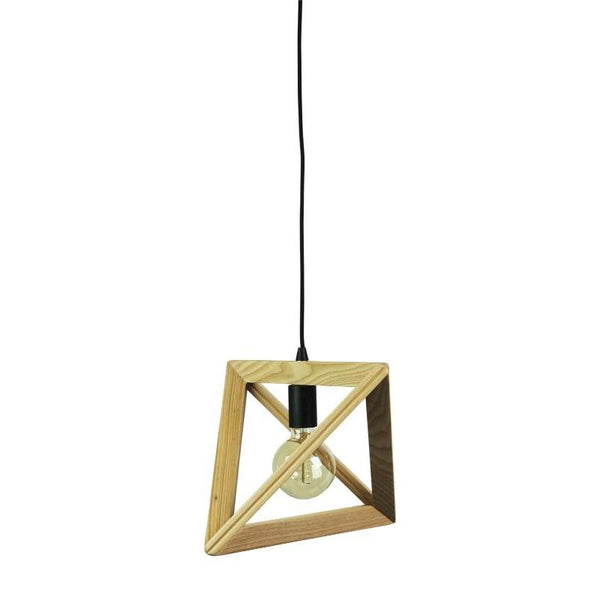 Trap Geometric Triangle Timber Pendant - The Lighting Lounge Australia