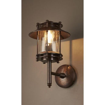 Turner Wall Lamp Antique Brass Dark - The Lighting Lounge Australia