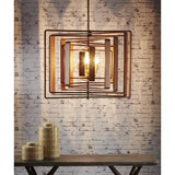 Walnut Timber Spiral Hanging Lamp - The Lighting Lounge Australia