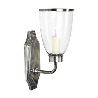Westbrook Glass Wall Light Silver