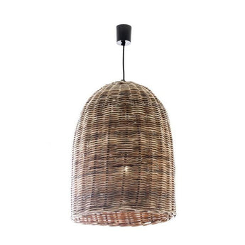 Wicker Bell Hanging Lamp Large - The Lighting Lounge Australia