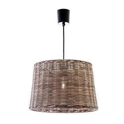 Wicker Round Hanging Lamp Large - The Lighting Lounge Australia
