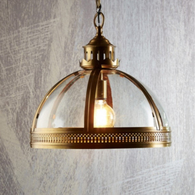 Winston Glass Pendant Small in Brass - The Lighting Lounge Australia