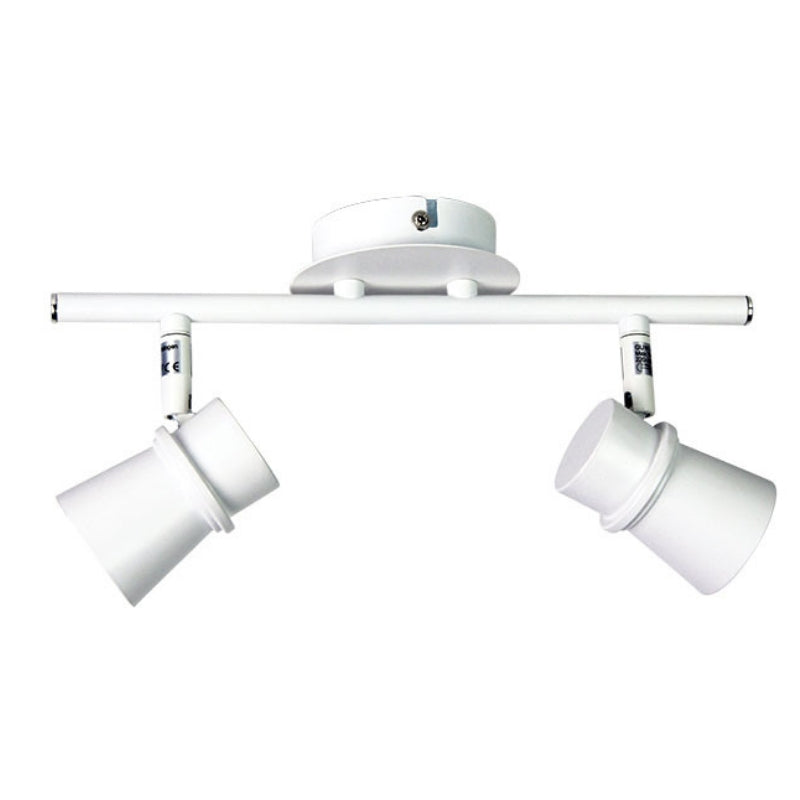 Yarra 2 Light Adjustable Spotlight Bar Matt White - The Lighting Lounge Australia