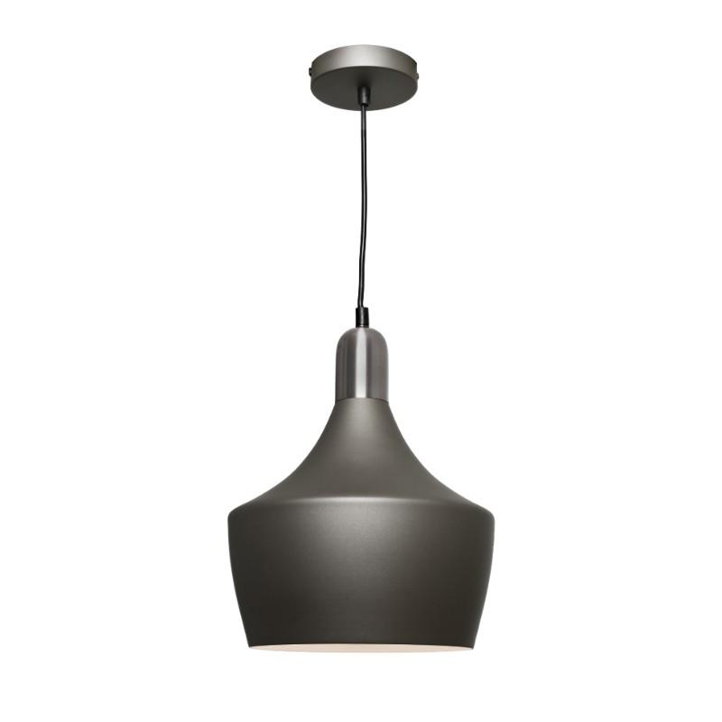 Bevo Metal Pendant Charcoal and Satin Chrome - The Lighting Lounge Australia